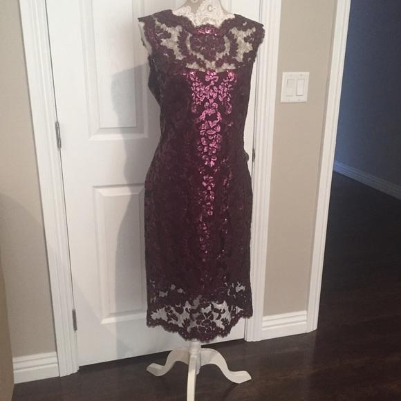 Tadashi Shoji Illusion Lace Dress – fashion dresses