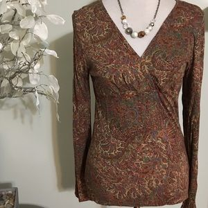 Chaps Tops - CHAPS LONG SLEEVE TOP