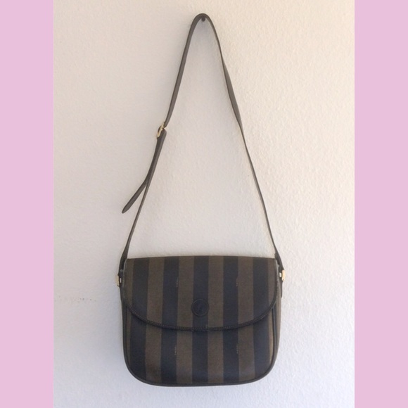 1e4442a6398e Fendi Handbags - 🌿Designer big vintage FENDI stripe cross body bag