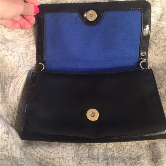 54% off Tory Burch Handbags - TORY BURCH Black Patent Leather ...