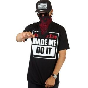"Famous Stars & Straps Other - ""Gangster Rap Made Me Do it"" Tee"