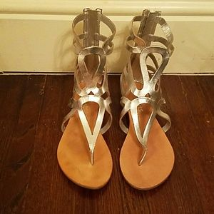 Silver Gladiator Sandals