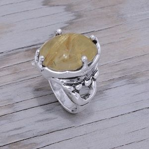 Sterling Silver & Rutilated Quartz