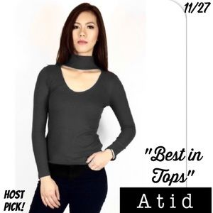 Atid Clothing Tops - ⭐️⭐️⭐️⭐️⭐ RIBBED CHOKER TOP