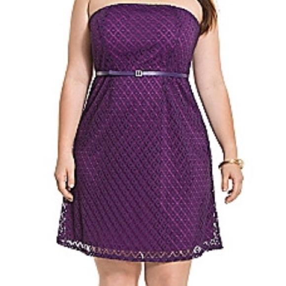 Lane Bryant Dresses Plus Size Purple Geo Lace Tube Dress Poshmark