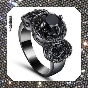 Glam Squad 2 You Jewelry - ‼️1HR SALE🆕 Black Sapphire Black GF Vintage Ring