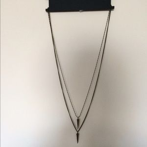 Topshop Jewelry - Topshop Double spike Necklace