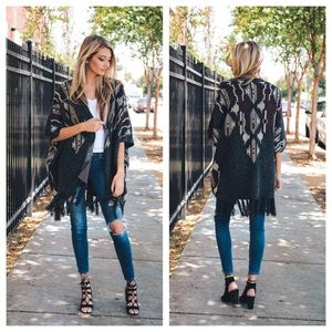Sweaters - Heather Argyle Poncho