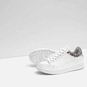 Platform leather sneaker -- Zara size 9