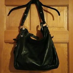 B Makowsky Handbags - Handbag - Black Leather