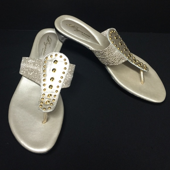 a60a0eab95b Women s Nordstrom Dezario Java gold Thong Sandals