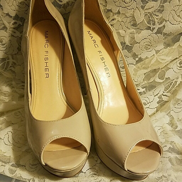 aecb2d70a2c Marc Fisher Cream Peep toes