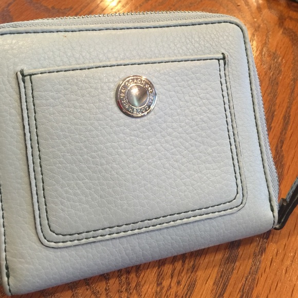 fe7cba289932 Coach Handbags - Light blue Coach small leather zip around wallet