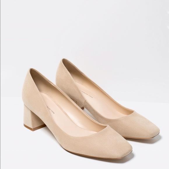 b5ce921d5 Zara Shoes | Nude Color Mid Heel Size 75 | Poshmark