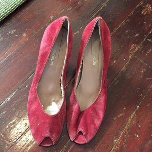 Enzo angiolini red peep toe heels size 7.5