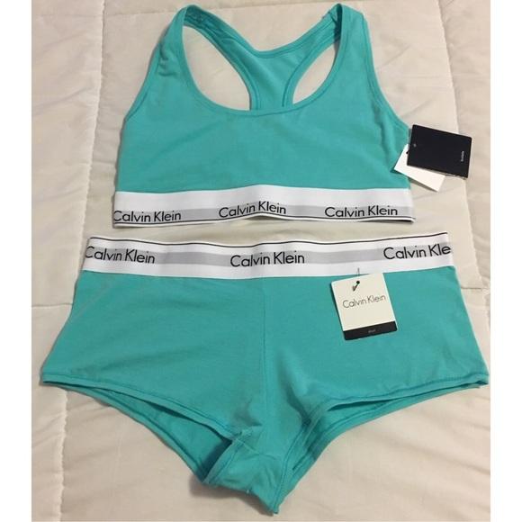 f74f1301528bb Calvin Klein Modern Cotton Bralette   Boyshort