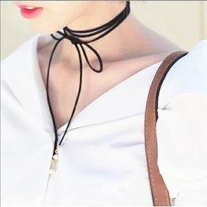 Jewelry - 80's 90's Fashion Choker Necklaces Black