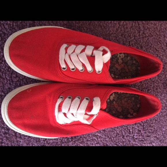 743a22d34d1cca target Shoes - Red target fake vans