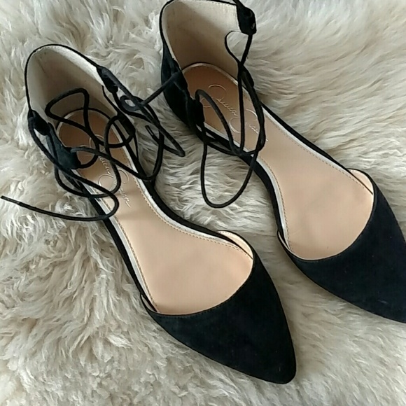 279827c09d216 Jessica Simpson Shoes | Suede Laceup Pointed Toe Flats | Poshmark