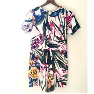 Missguided Floral Romper Size US 6