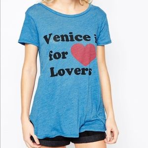 Wildfox Venice is for lovers graphic t-shirt