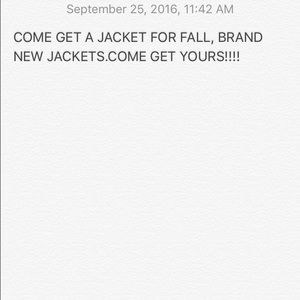 Other - FALL JACKETS