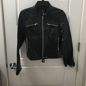 Arden B Jackets & Blazers - Black leather moto biker jacket