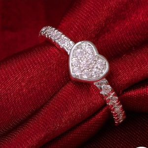 Boutique Jewelry - Petite Pave Heart Ring 7 8
