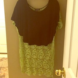 Blouse with knitted detail