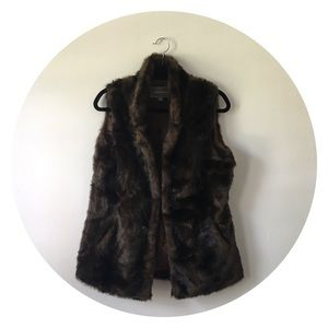 Rich Brown Faux Fur Vest by Johnston & Murphy