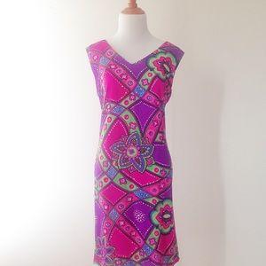 Vintage bright print dress