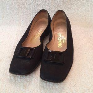 Ferragamo shoes, closed toe, slight heel
