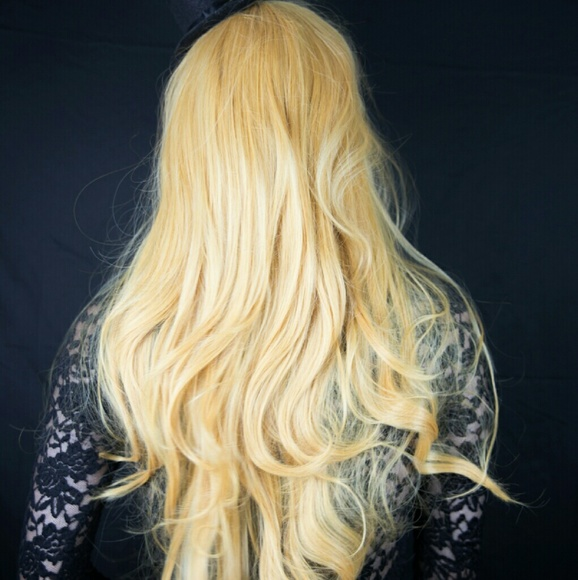 Hot Topic Accessories - 🌟Long Golden Blonde Cosplay Wig Gold Yellow NEW