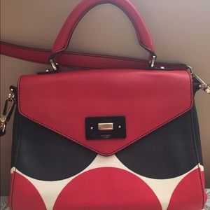 Kate Spade Leather Polka Dot Purse