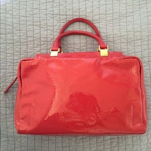 Lanvin patent leather hand bag.