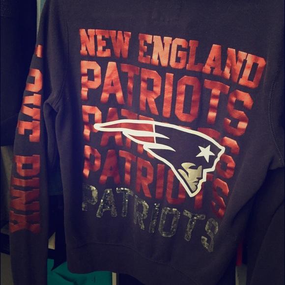 Victoria s Secret pink New England Patriots hoodie.  M 57e800a4522b4557b2007a66 cfd706ee3