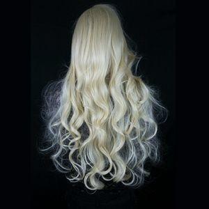 New Long Curly Platinum Blonde Wig Princess Lolita