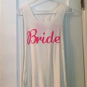 Bride bow back tank.
