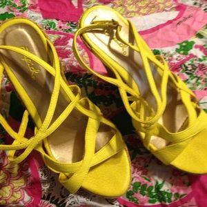 Qupid Shoes - QUPID WEGDE  YELLOW