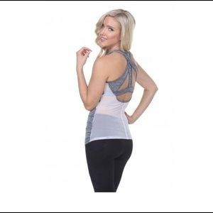 "Electric Yoga Tops - Electric Yoga ""Keyhole with Mesh"" Workout Top"