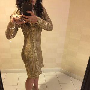 f18a31c266 MICHAEL Michael Kors Dresses - Michael Kors Gold metallic sweater dress