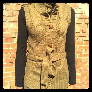 SALE  Olive Green Knitted Vest