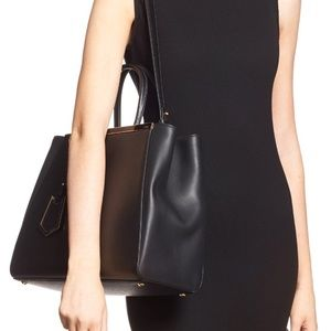 Fendi 2Jours Elite leather shopper