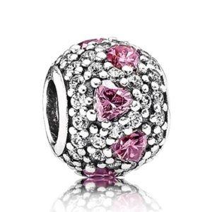 Pandora Jewelry - ✨NEW✨Pandora Charm - Shimmering Heart/Pink & Clear