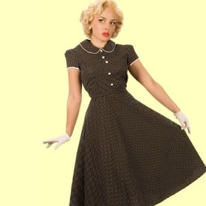 Stop Staring Dresses & Skirts - Stop Staring polka dot short sleeve dress 3x retro
