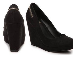 Mix NO. 6 Black Suede Wedges