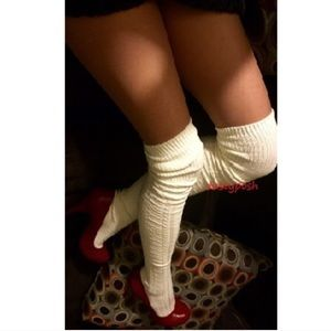 Cable Knit Thigh High Socks Over The Knee Boot OTK