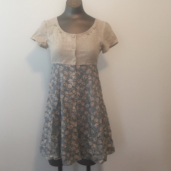 My Michelle Dresses & Skirts - My Michelle country linen vtg mini dress  sz 3