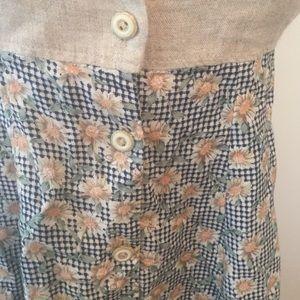 My Michelle Dresses - My Michelle country linen vtg mini dress  sz 3