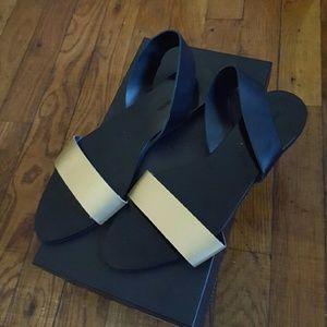 Zara Basic Collection Gold/Black sandals 39EU
